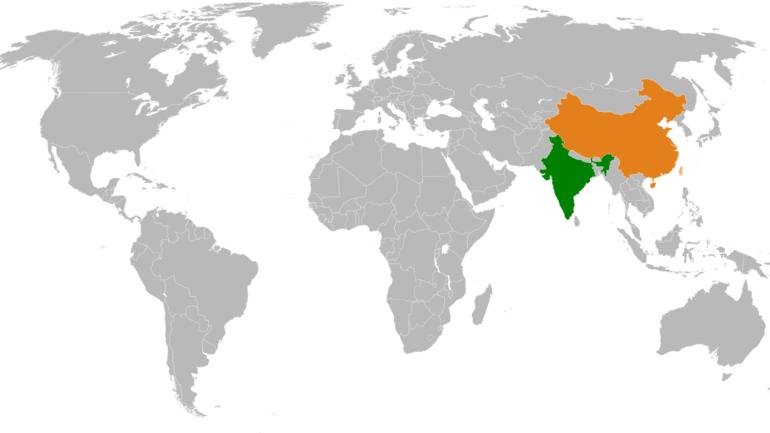 India_China_Locator